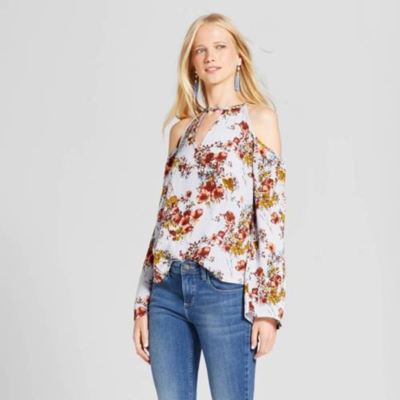 322cd4b529d1d5 Mossimo Supply Co. Tops | Printed Keyhole Off The Shoulder Top ...